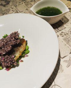 鮎、初夏野菜と古代米2019年
